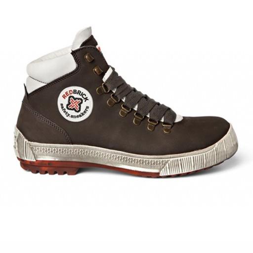 Werkschoenen Redbrick Freestyle S3 | Bruin met witte accenten.