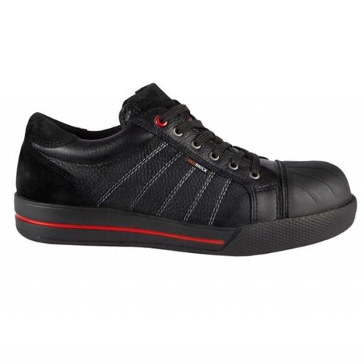 Werkschoenen Redbrick Ruby S3 | zwart met rode accenten
