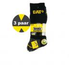 Cat sokken - 2 pack - Zwart met oker geel.