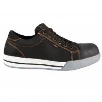 Werkschoenen Redbrick Flint met overneus S3 | zwart